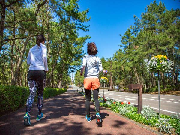 リゾートで思いっきりジョギング!