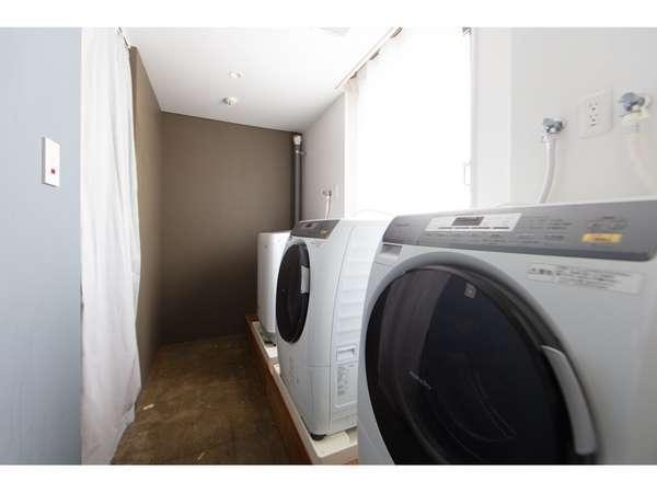 無料ランドリーございます。乾燥機付洗濯機