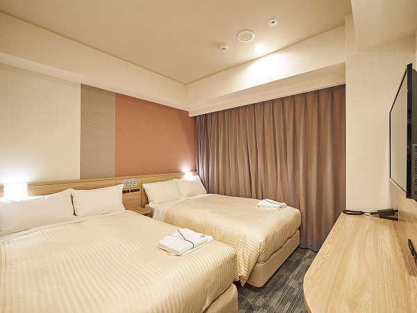ツインルーム 広さ15.6平米 Wi-Fi接続可 空気清浄機完備