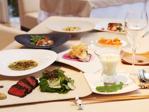 【夕食一例】那須の旬の食材を使ったイタリアンフルコース