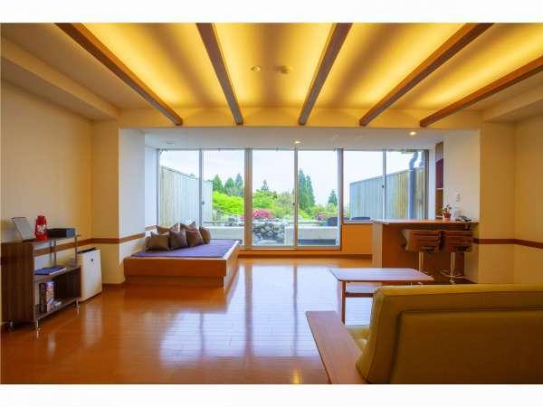 ◆源泉掛け流し◆1階洋室 露天風呂付客室(一例)