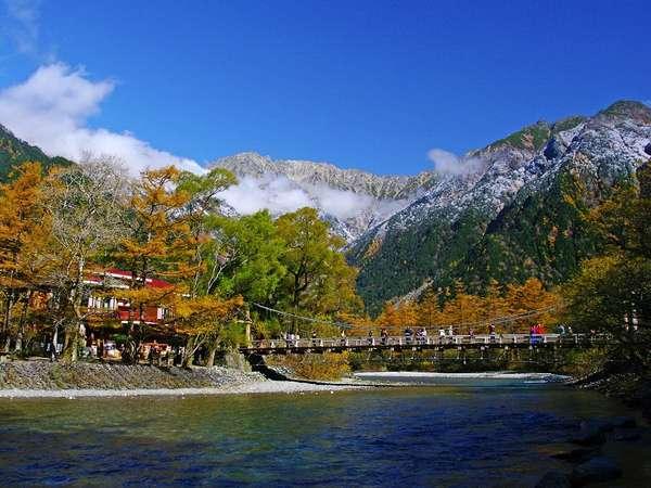 【秋の上高地】河童橋から楽しむ秋の景色