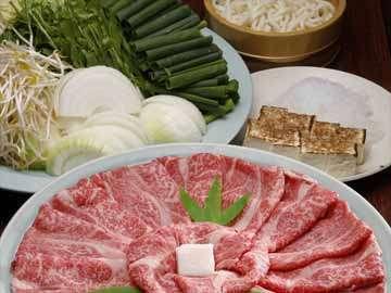 ≪近江松喜屋牛すき焼き/御食事一例≫卵をたっぷりつけてお召し上がりください♪