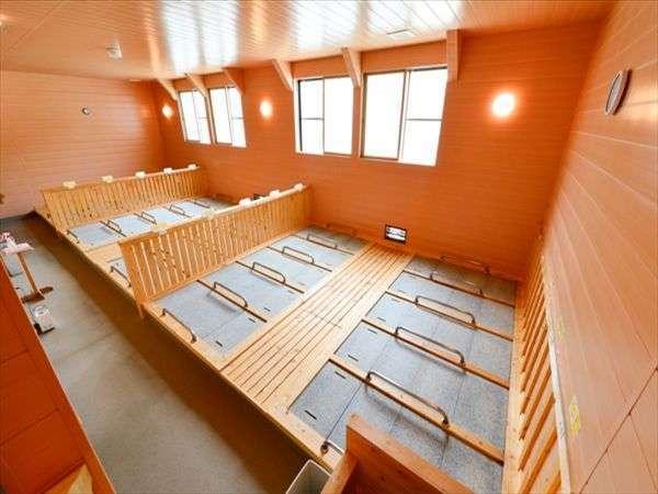 屋内岩盤浴はご宿泊のお客様は無料で利用できます。※フロントで時間予約制
