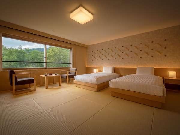 秋田杉を使用した、畳とベッドのお部屋にリニューアル。