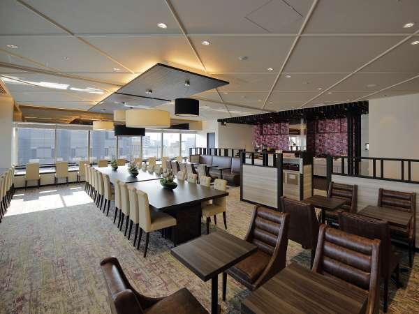 朝食はこの最上階にあるゲストラウンジにて開放感のある中でお召し上がりください。
