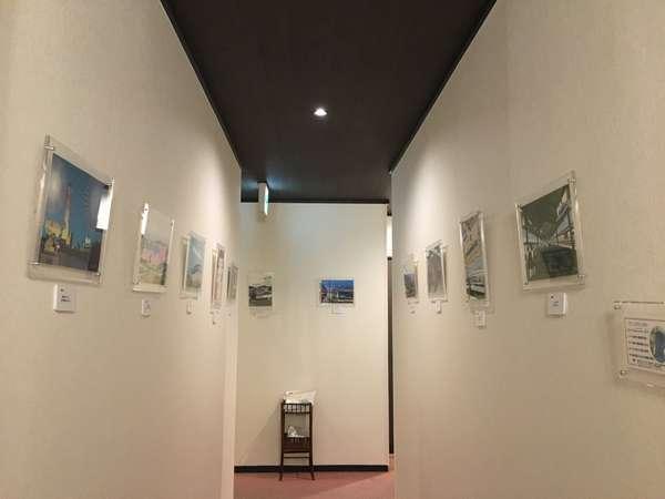 新館 ギャラリーになった廊下。