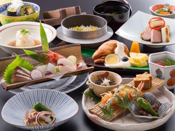 *鳳翔(ほうしょう)コース冬メニュー一例/調理長厳選の食材を使った月替わり膳