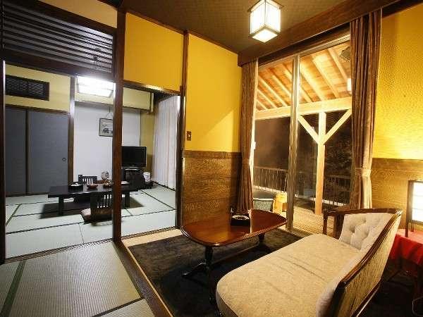 自然の空気を堪能出来る露天風呂付き客室