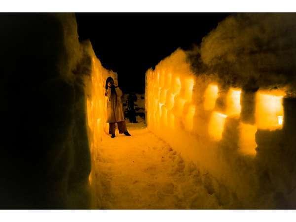 雪灯りの様子