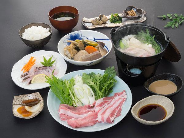 【夕食一例】食べる温泉フルコース