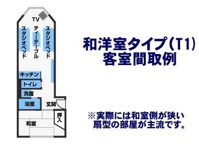 和洋室(Type1)客室間取り例