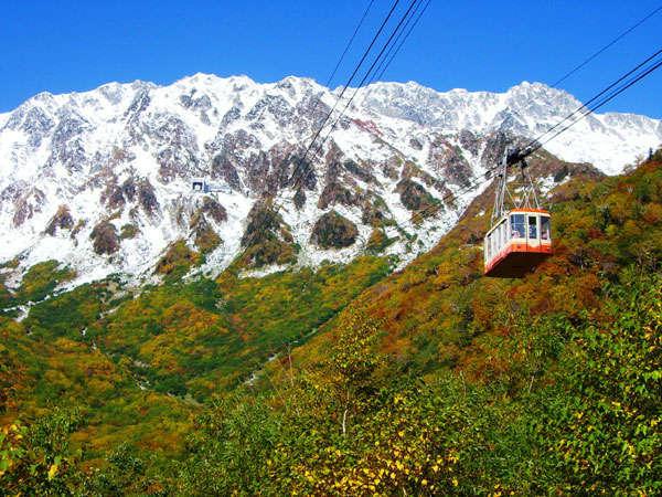 紅葉が美しい立山黒部アルペンルート。