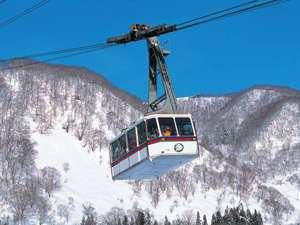 みつまたロープウェーで春スキー
