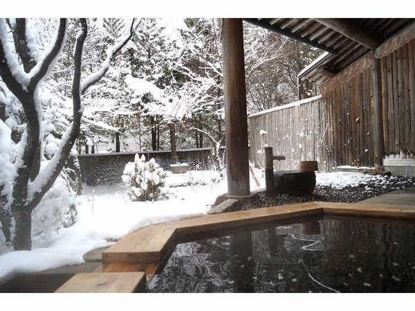 冬季 貸切風呂 庭の湯 雪見の露天風呂