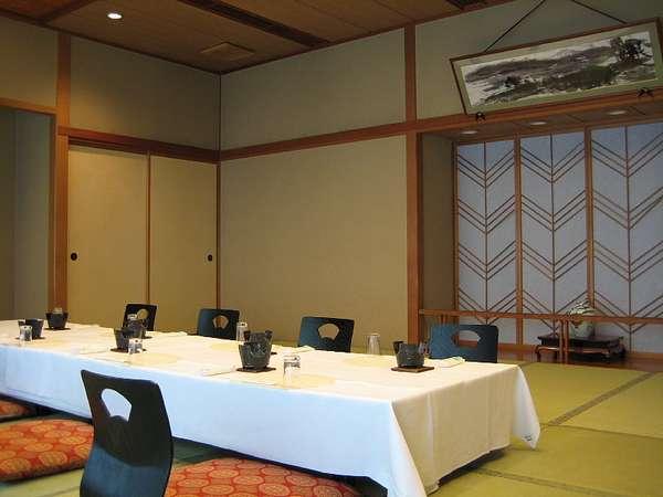 落ち着いた和風宴会場「万葉」10名~25名位でご利用いただくとベストな会食場です。