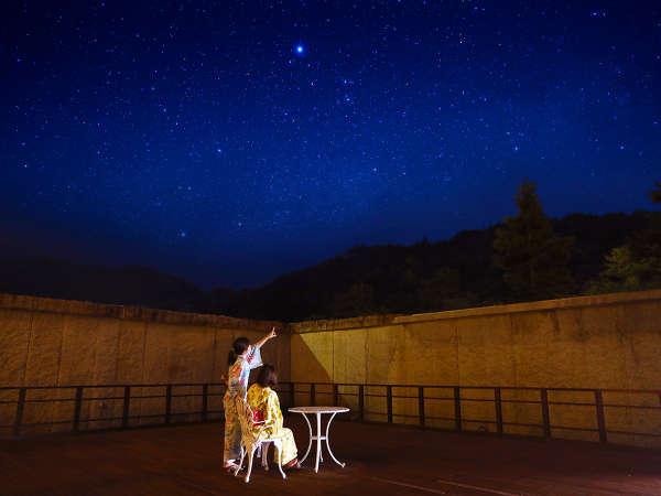 夜は、星空テラスで満天の星空を。