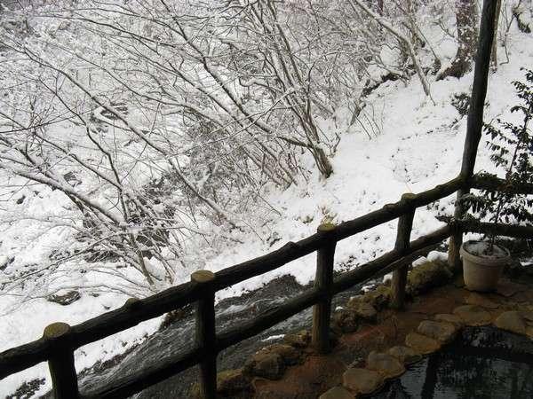 露天風呂からの風景(冬・雪)