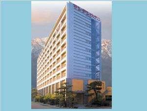 立山連峰を望めるホテル、魚津マンテンホテル駅前