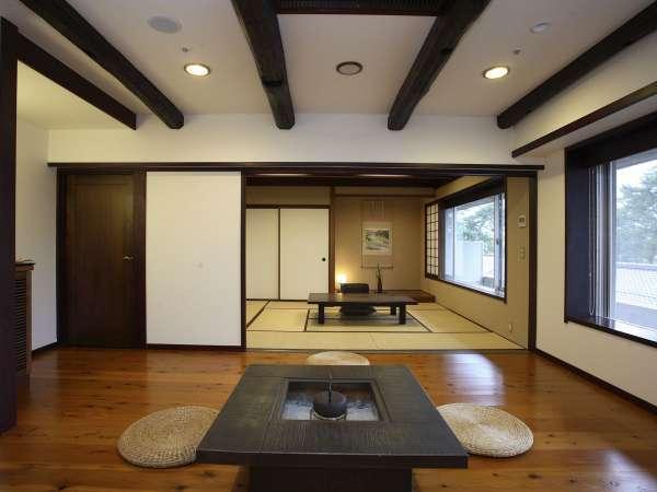 和洋特別室/アンティーク調のデザイン性の高いお部屋です。お部屋からは3000坪の日本庭園を眺望できます。