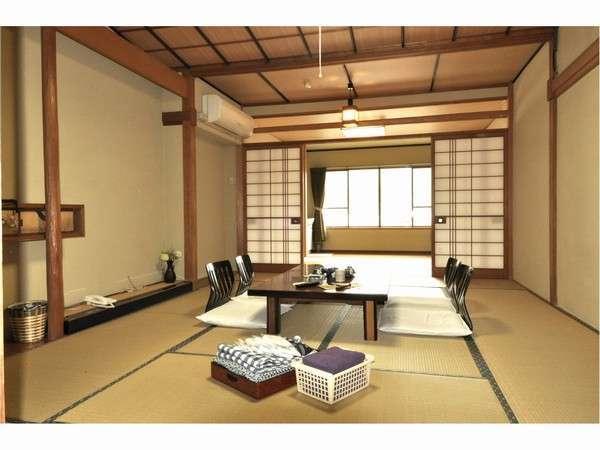 12畳+6畳の2間続きの広々和室でグループ旅行にも最適◎