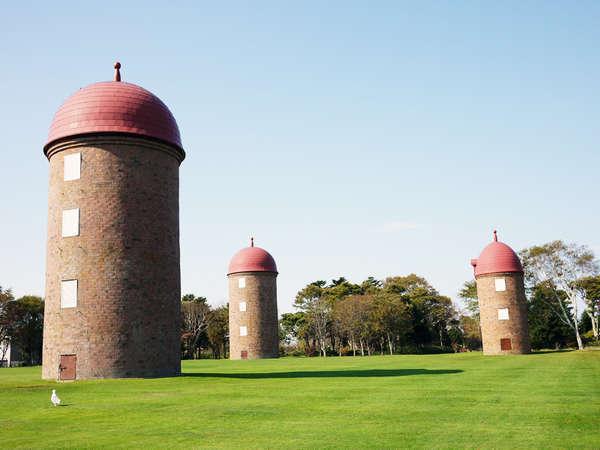 明治公園:現存するレンガ造りのサイロ