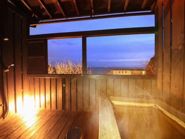 【露天風呂付き客室】夜景を見ながらの、自分だけのプライベート空間
