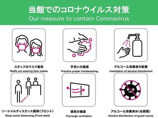 新型コロナウイルス対策:当館の衛生管理