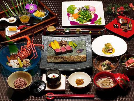 ディナー:季節の旬を使った和琉会席コース