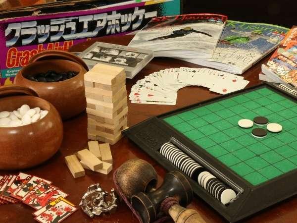プレイルームには、大人も楽しめるゲームも。お仲間とご一緒に
