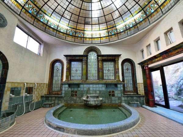*【岩本楼ローマ風呂】国登録有形文化財に登録されています。