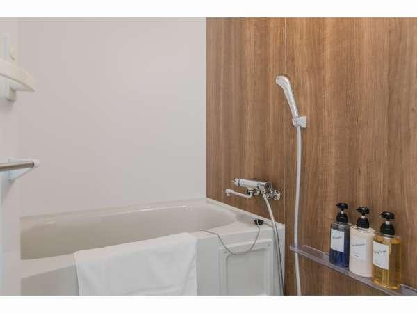 ツインルーム・ダブルルーム浴室・洗い場付の浴槽でご自宅気分♪