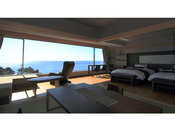 特別室〈海空~みそら~〉8mの窓から太平洋が飛び込んできます