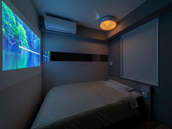 ■シアタールームでは壁一面にお好きな映像を映し出せます♪
