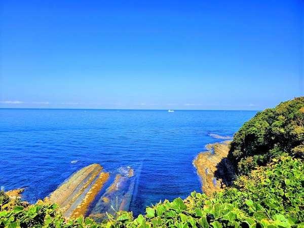 【露天風呂】露天風呂から望む限界灘は絶景です!