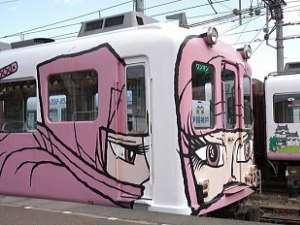【忍者電車】漫画家の松本零士さんがデザインされました!メーテルに似てる?!
