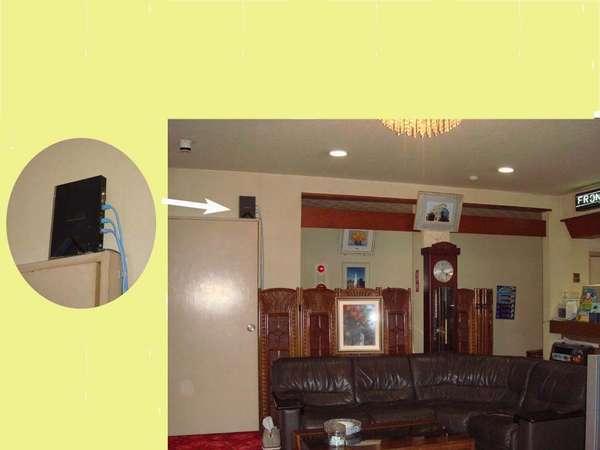お部屋で、Wi-fi出来ます。(パスワードはフロントにて)