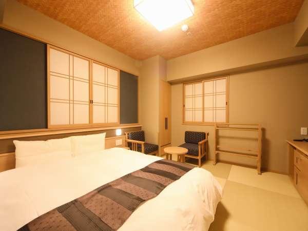 ■クイーンルーム(23㎡)~サータ社製ベッド(160cm×195cm)~