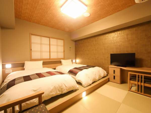 ■モデレートツイン(21㎡)~サータ社製ベッド(110-120cm×195cm×2台)~