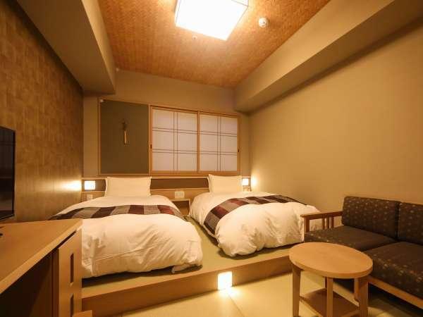 ■コンパクトツイン(19㎡)~サータ社製ベッド(100cm×195cm×2台)~