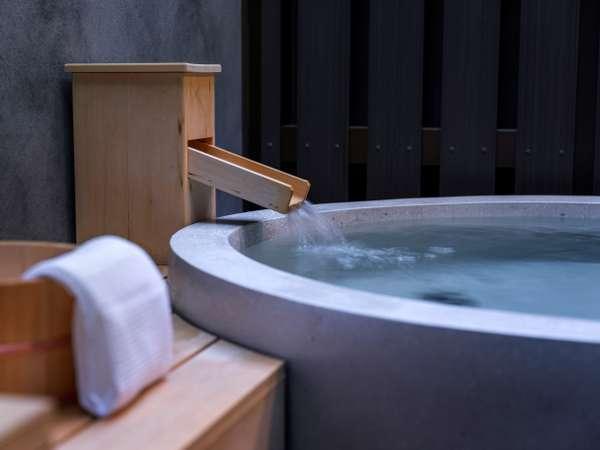札幌都心では珍しい客室露天風呂。スイートルームのみご利用いただけます。