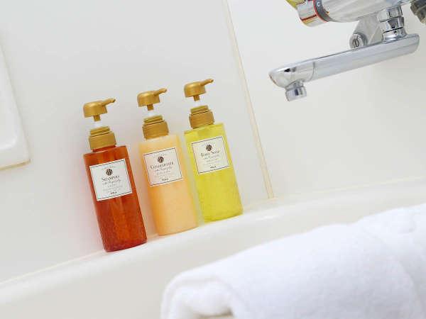 ≪客室バスルーム≫シャンプー類は香りの良いPOLAのシャワーブレイクプラスシリーズを使用