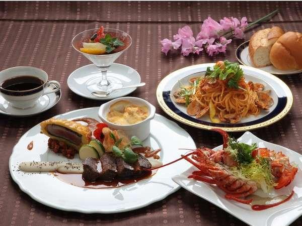 洋食コースメニューイメージ(季節により料理内容は変わります)
