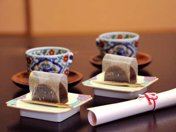 *【お茶請け】静岡茶と女将手作りの羊羹。心からのおもてなしで、お客様をお出迎え致します