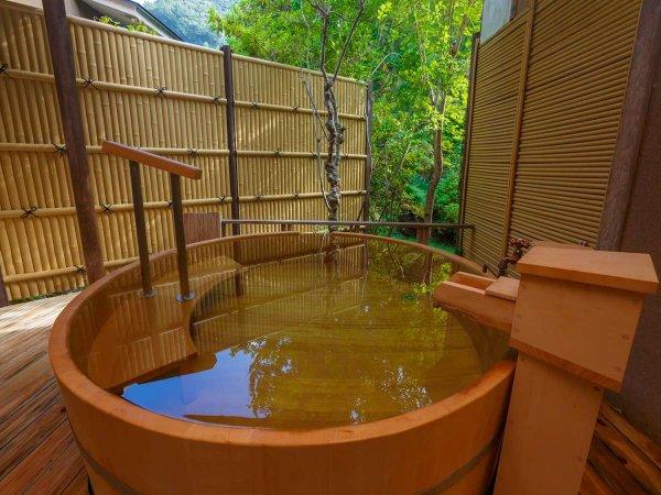 【無料貸切風呂:露天】「月」源泉掛け流し温泉 自然をたっぷり感じながら、プライベート空間を演出