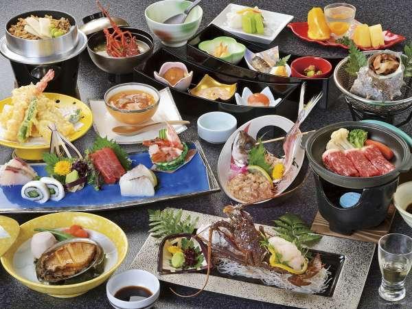 *【和食会席:伊勢海老・鮑コース(一例)】海の幸を堪能いただける豪華な会席料理