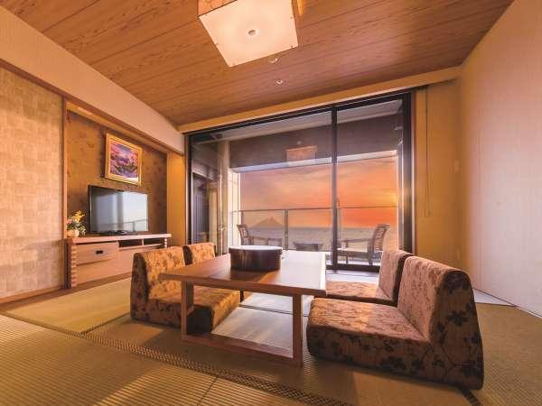 *【客室:特別室(一例)】東京湾に沈む夕陽を眺めることもできます