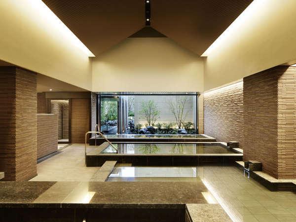 大浴場/屋内大浴場/神戸みなと温泉、炭酸泉