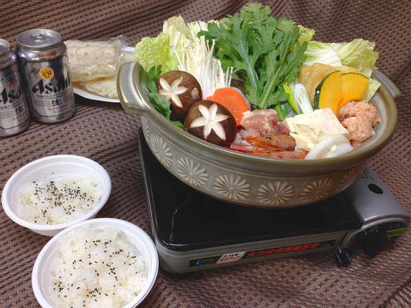 寄せ鍋セット盛りつけ例【お食事一例】