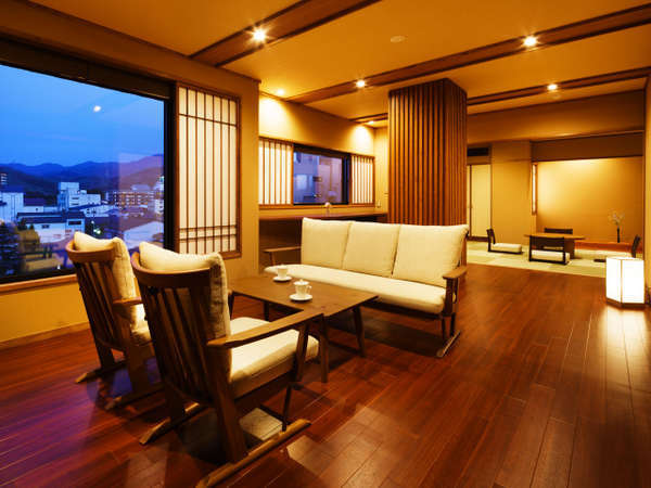 【四季邸いろは】さくら : 和室/ベッドルーム/リビング/半露天風呂付